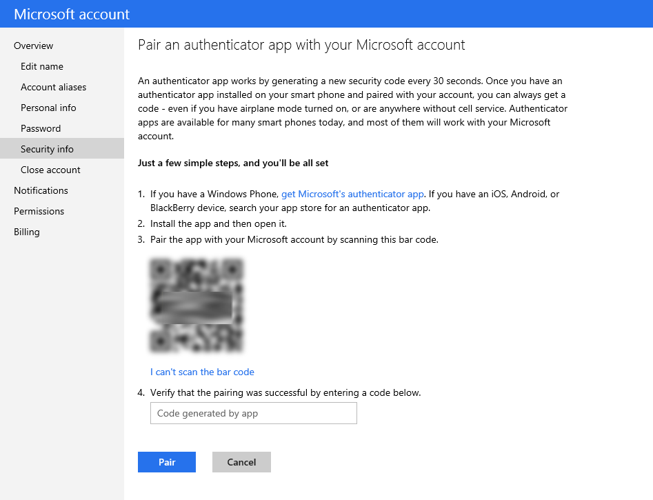 Microsoft-account-Authenticator-app