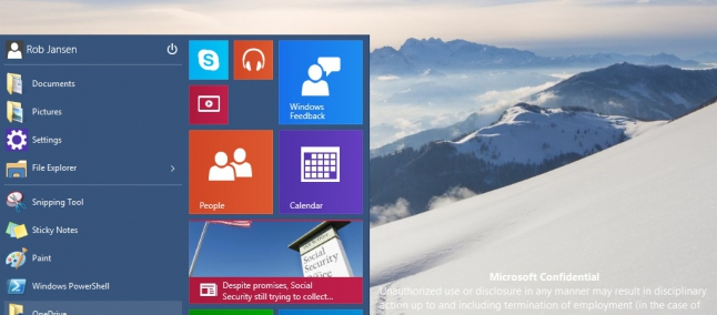 pannello controllo windows 10