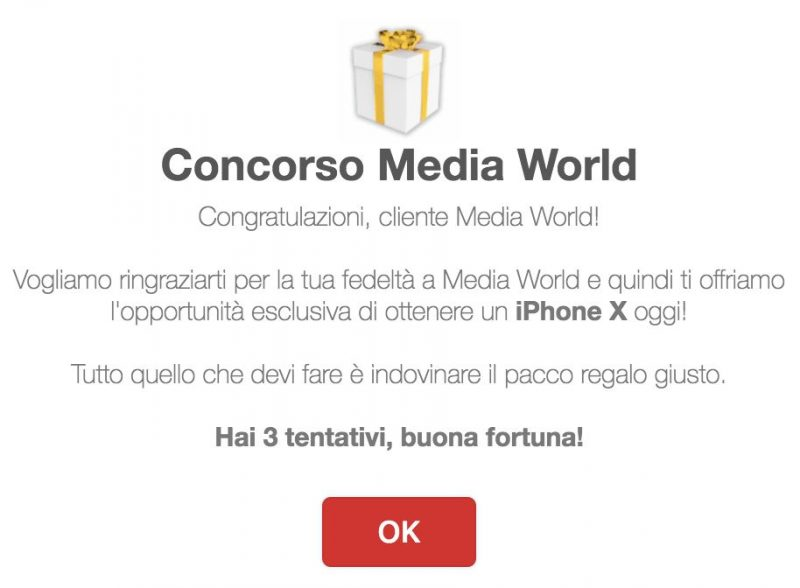 Concorso Media World truffa